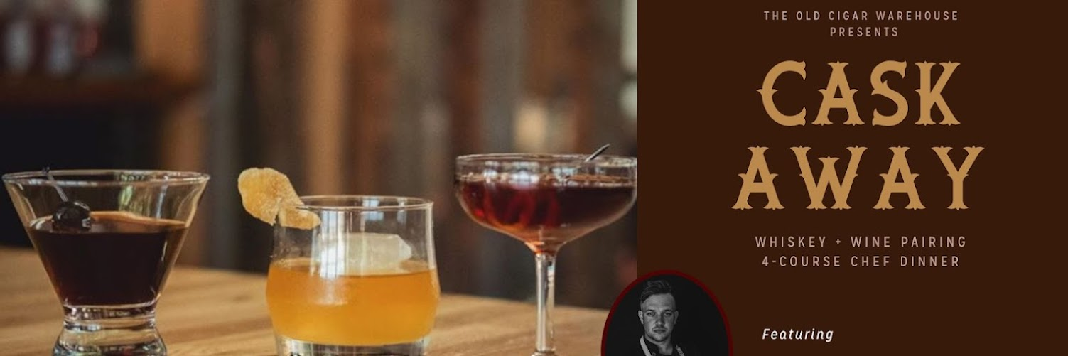 Cask Away: Whiskey + Wine Pairing Dinner