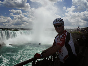 Photo: Day 46 August 3 2013 Brantford ON to Niagara Falls NY On the Canadian side of falls  Jim