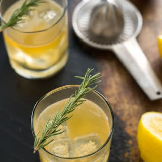 Bourbon Sour with Lemon & Rosemary.