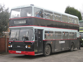Photo: The Confidential Return - 13/03/2010 Third Olympian for the day was VJO205X which took us to visit Country Hopper in Ibstock- their A509EJF can be seen behind our Oxford machine.