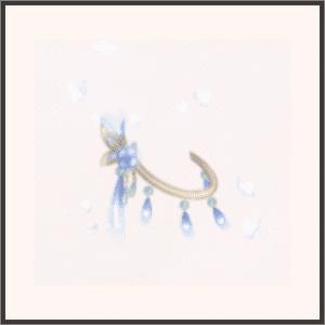 青き蝶のアンクレット