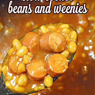 Slow Cooker Beans and Weenies.