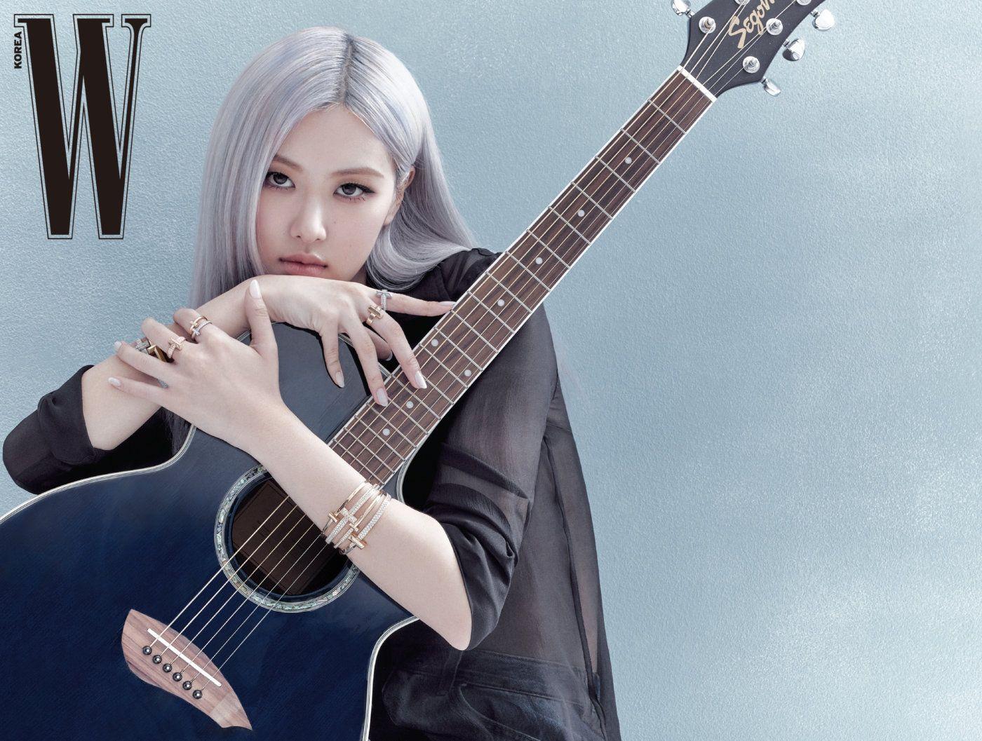 blackpink rose guitar
