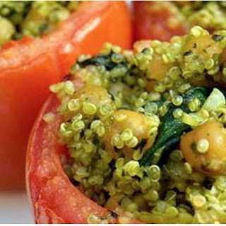 Quinoa Baked Stuffed Tomatoes