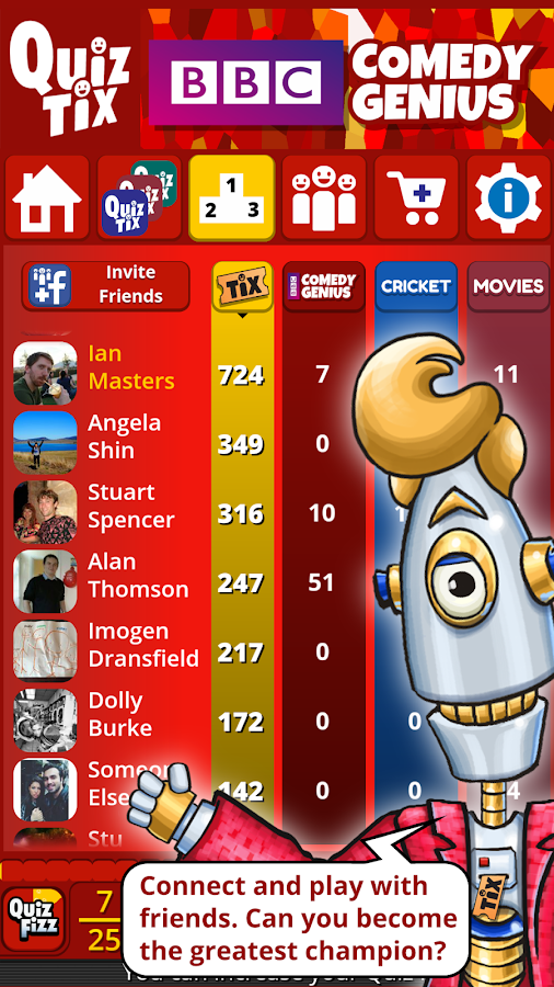 QuizTix: BBC Comedy Genius- screenshot