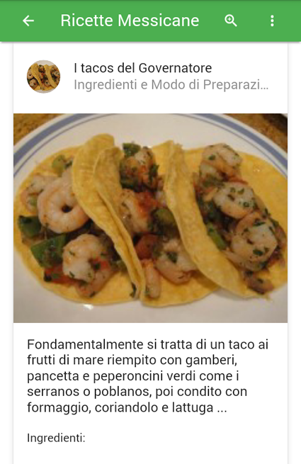 Ricette messicane android apps on google play for Ricette messicane