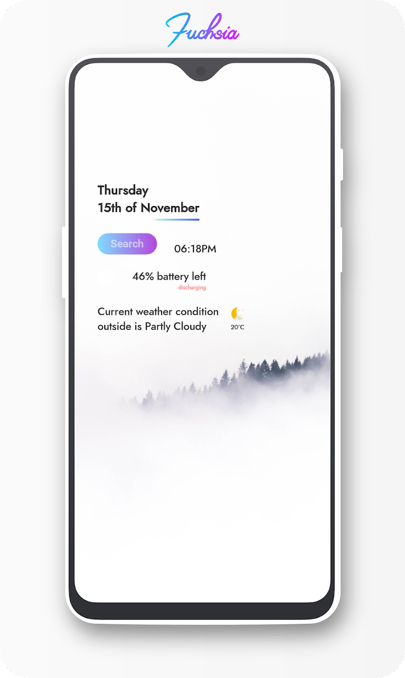 Fuchsia KWGT - Gradient Based Widgets Screenshot 5
