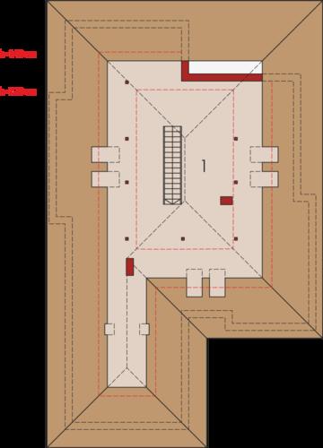 Liv 3 G2 MULTI-COMFORT - Rzut poddasza do adaptacji
