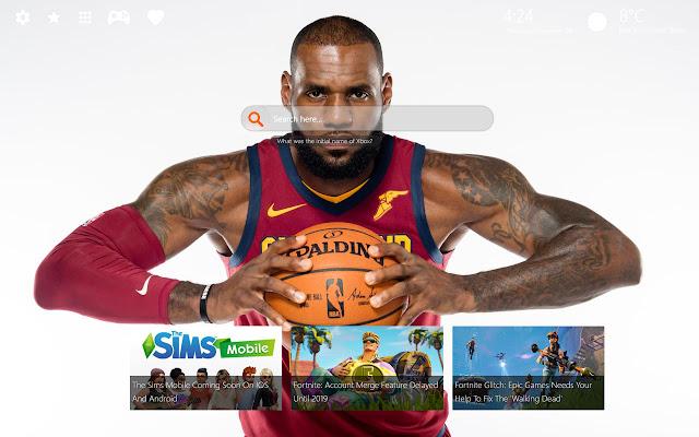 LeBron James HD Background New Tab