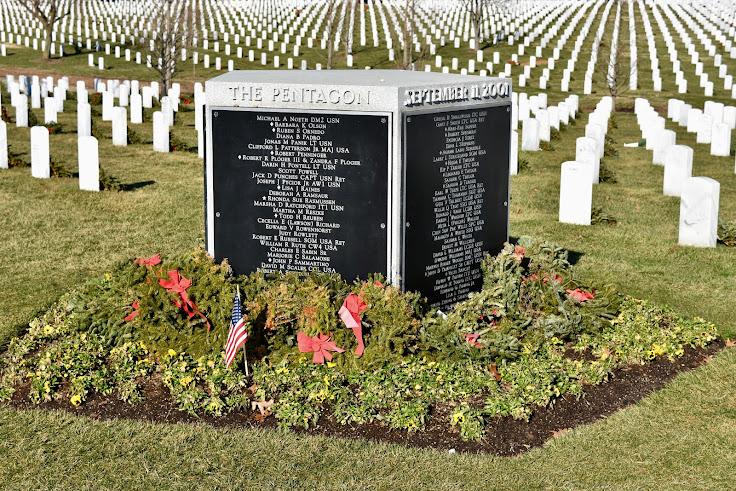 Pentagon Group Burial Marker commemorating 2001 attack on Pentagon