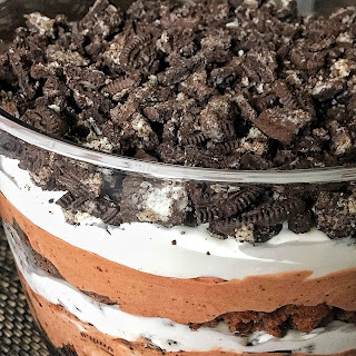 Easy and Delicious Oreo Brownie Trifle.