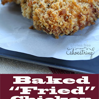 "Healthy Gluten Free Baked ""Fried"" Chicken"