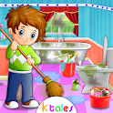 Full House Cleaning - Home Cleanup Game For Girls icon