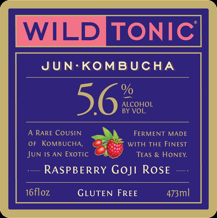 Logo of Wild Tonic Raspberry Goji Rose Jun Kombucha