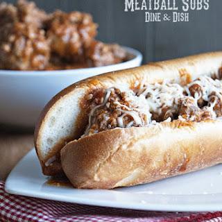 Homemade Meatball Subs.