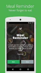 Simple Meal Reminder screenshot 0
