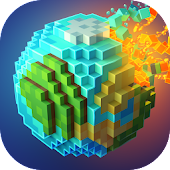 Planet Craft: Block Survival Craft Games Online