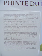 Photo: The facilities at Pointe du Hoc have also been enhanced, including this description of the events of D-Day.