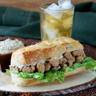 Cauliflower Po' Boy Sandwich.