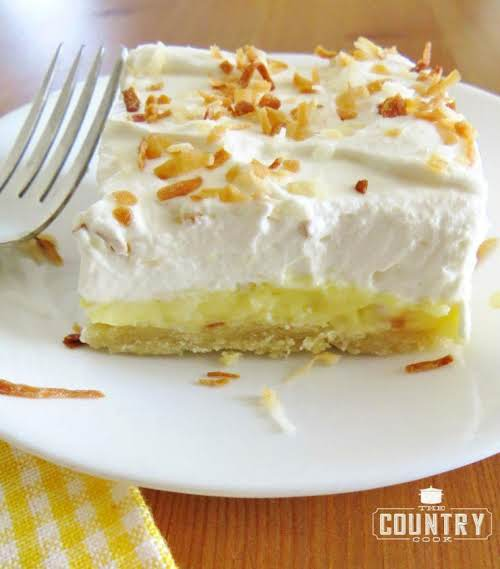 "Coconut Cream Pie Bars ""My absolute favorite way to eat coconut is..."