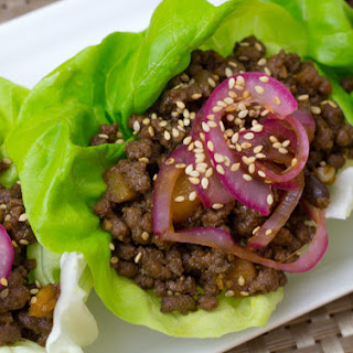 Low Carb Chinese Beef Lettuce Wraps.