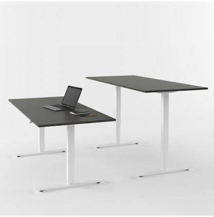 Skrivbord el vit/grå 2000x800