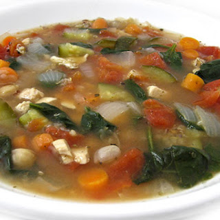 Deliciously Healthy Chicken, Vegetable and Quinoa Soup.