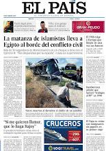 Photo: La matanza de islamistas lleva a Egipto al borde del conflicto civil; el FMI exige a Europa que limpie de una vez sus bancos; nueve muertos al dormirse el chófer de un autobús, en la portada de EL PAÍS, edición nacional, del 9 de julio de 2013 http://cort.as/4cQb