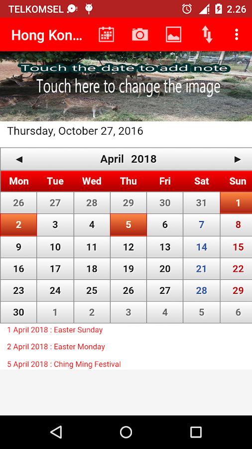 Calendar April Hong Kong : Hong kong calendar android apps on google play