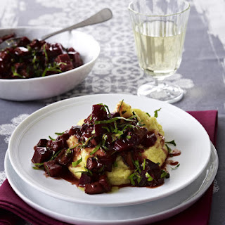 Beet and Eggplant Ragout with Polenta