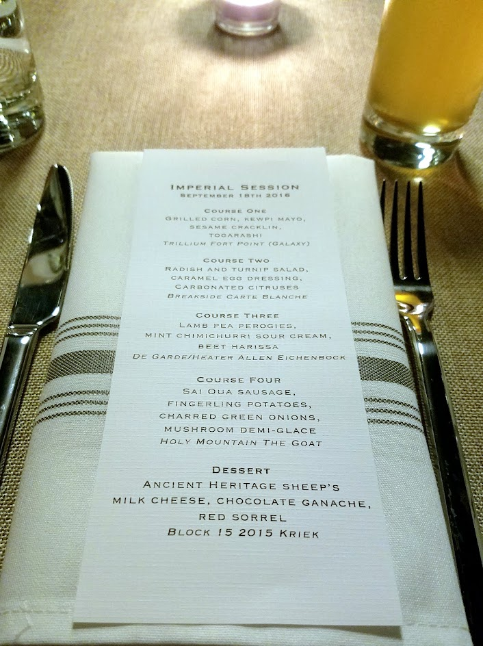 Imperial Session Beer Dinner Recap
