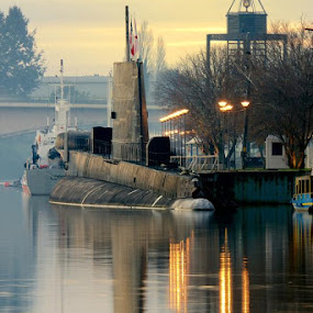 The Old Submarine by Charles Brooks - Transportation Other