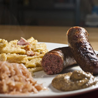 Bratwurst, Sauerkraut And Kasespatzle