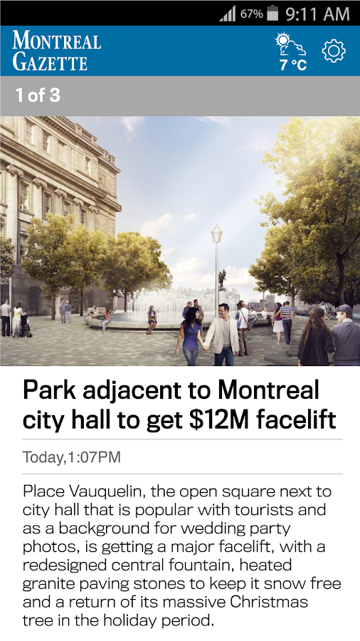 The Montreal Gazette- screenshot