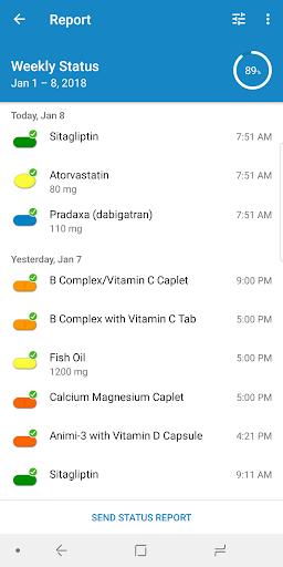 Medisafe Pill Reminder Screenshot