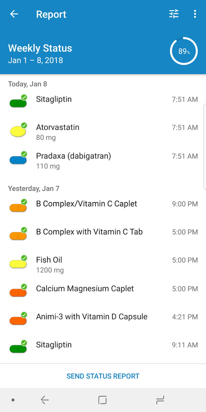 Pill Reminder and Medication Tracker by Medisafe Screenshot 3