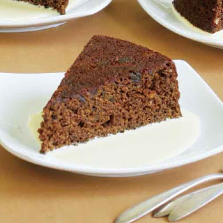 Steamed Coriander-Gingerbread Cake with Eggnog Crème Anglaise