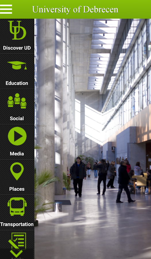 University of Debrecen- screenshot