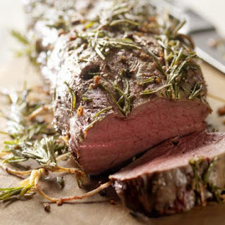 Juicy Beef Tenderloin With A Savory Rosemary And Garlic Crust