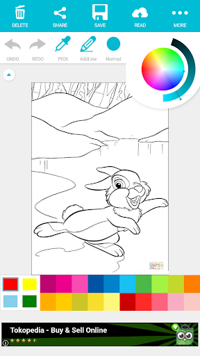 Download Cartoon Coloring Books For Kids : Little Bambi
