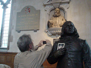 Photo: The memorial to Jim's honorable ancestor, John Speed (the famous cartographer) at St. Giles Church in Cripplegate.