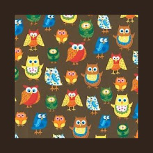 Photo: owls in aprons *Jane* Special Note *would look good on espresso or khaki straps