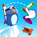 Learn 2 Fly: Flying penguin games 🐧 Bounce & Fly! icon