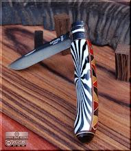 Photo: Opinel custom n°056 Résine. http://opinel-passions-bois.blogspot.fr/ Personnalisations en marquèterie de bois précieux, cornes, résines et aluminium du couteau pliant de poche de la célèbre marque Savoyarde Opinel.