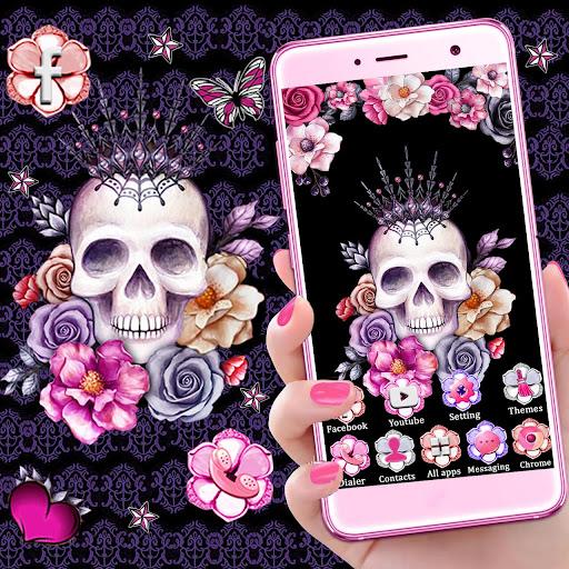 Skull Flower Themes Live Wallpapers screenshots 2