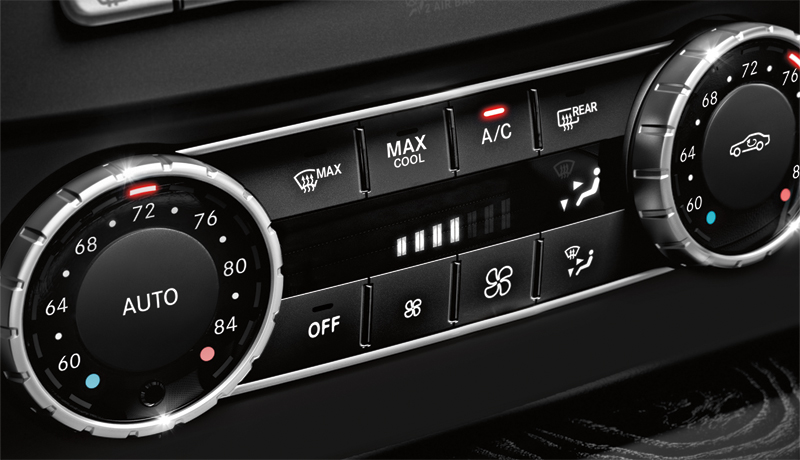Photo: Why does every C-Class come standard with dual-zone automatic climate control? Because it's a Mercedes-Benz.