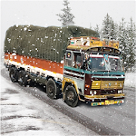 Indian Truck Driver Cargo Duty Icon