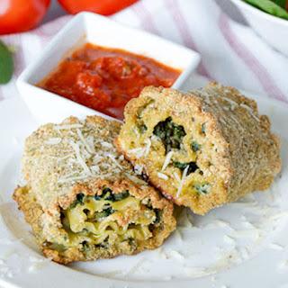 Pesto Spinach Lasagna Roll Ups {Freezer Meal}