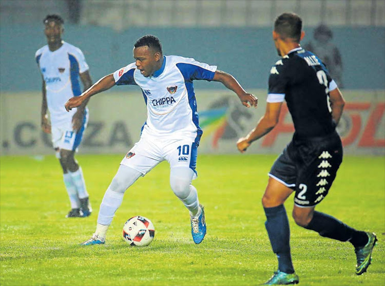 Andile Mbenyane of Chippa United