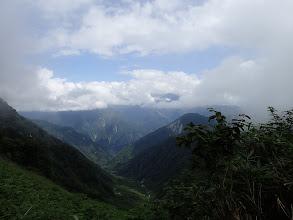 ブナクラ峠から東側の最後の展望